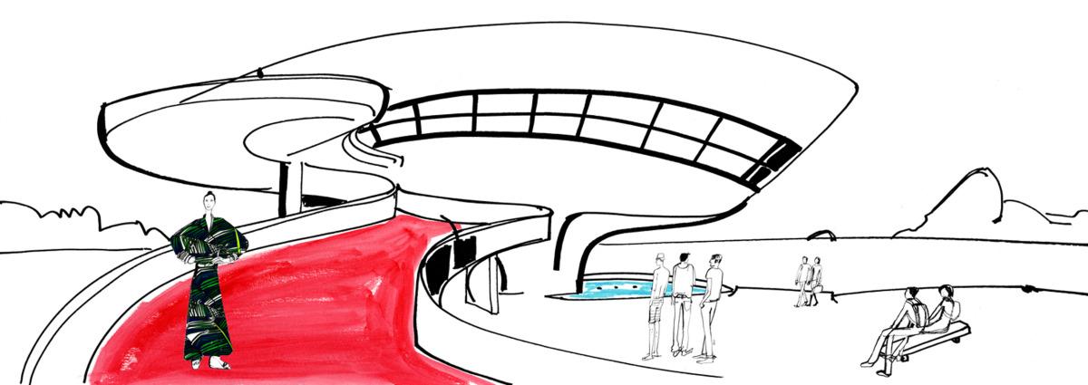 """Filipe Jardim / Fashion Illustration / Fashion Rio<span class=""""slide_numbers""""><span class=""""slide_number"""">4</span>/6</span>"""