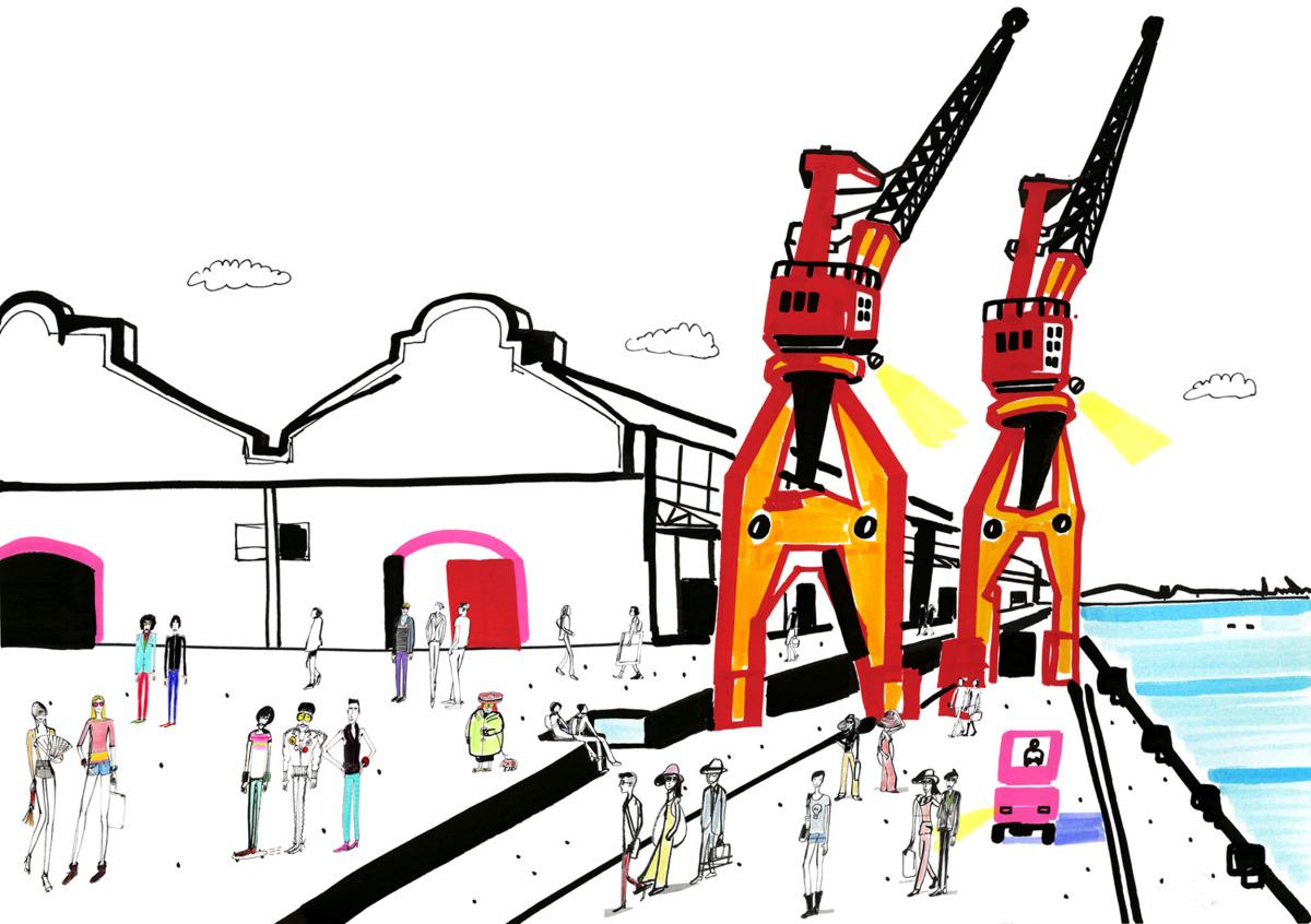 """Filipe Jardim / Fashion Illustration / Fashion Rio<span class=""""slide_numbers""""><span class=""""slide_number"""">2</span>/6</span>"""