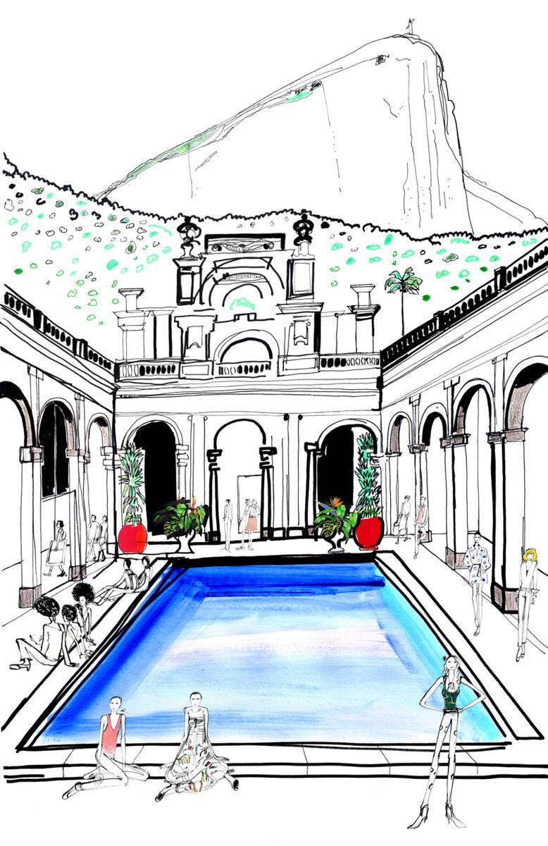 """Filipe Jardim / Fashion Illustration / Fashion Rio<span class=""""slide_numbers""""><span class=""""slide_number"""">1</span>/6</span>"""