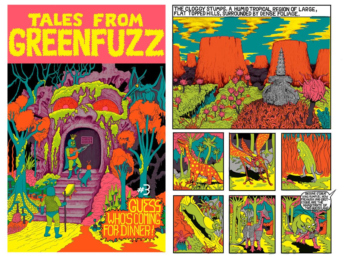 "Will Sweeney / Comics & Zines / Tales From Greenfuzz<span class=""slide_numbers""><span class=""slide_number"">1</span>/9</span>"