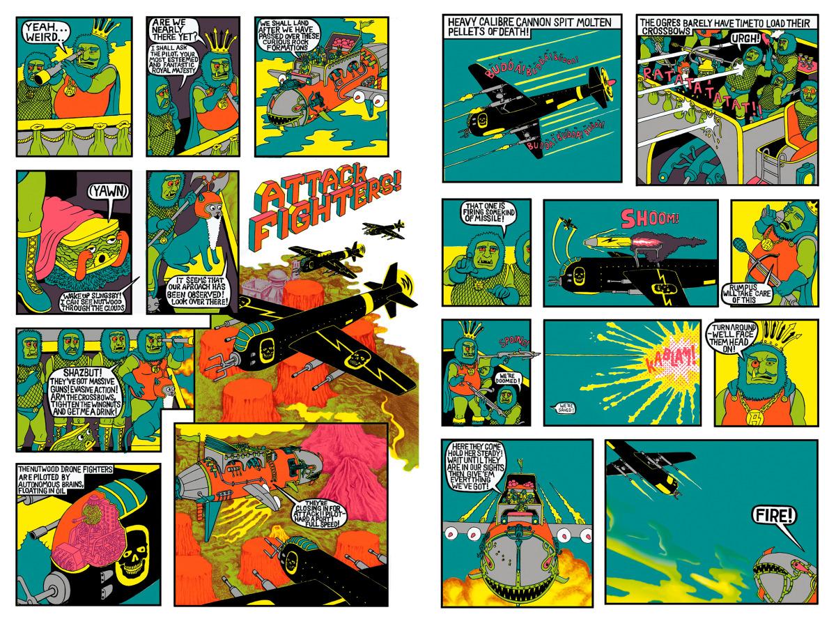 "Will Sweeney / Comics & Zines / Tales From Greenfuzz<span class=""slide_numbers""><span class=""slide_number"">2</span>/9</span>"