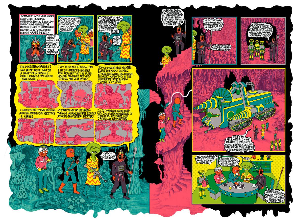 "Will Sweeney / Comics & Zines / Tales From Greenfuzz<span class=""slide_numbers""><span class=""slide_number"">4</span>/9</span>"