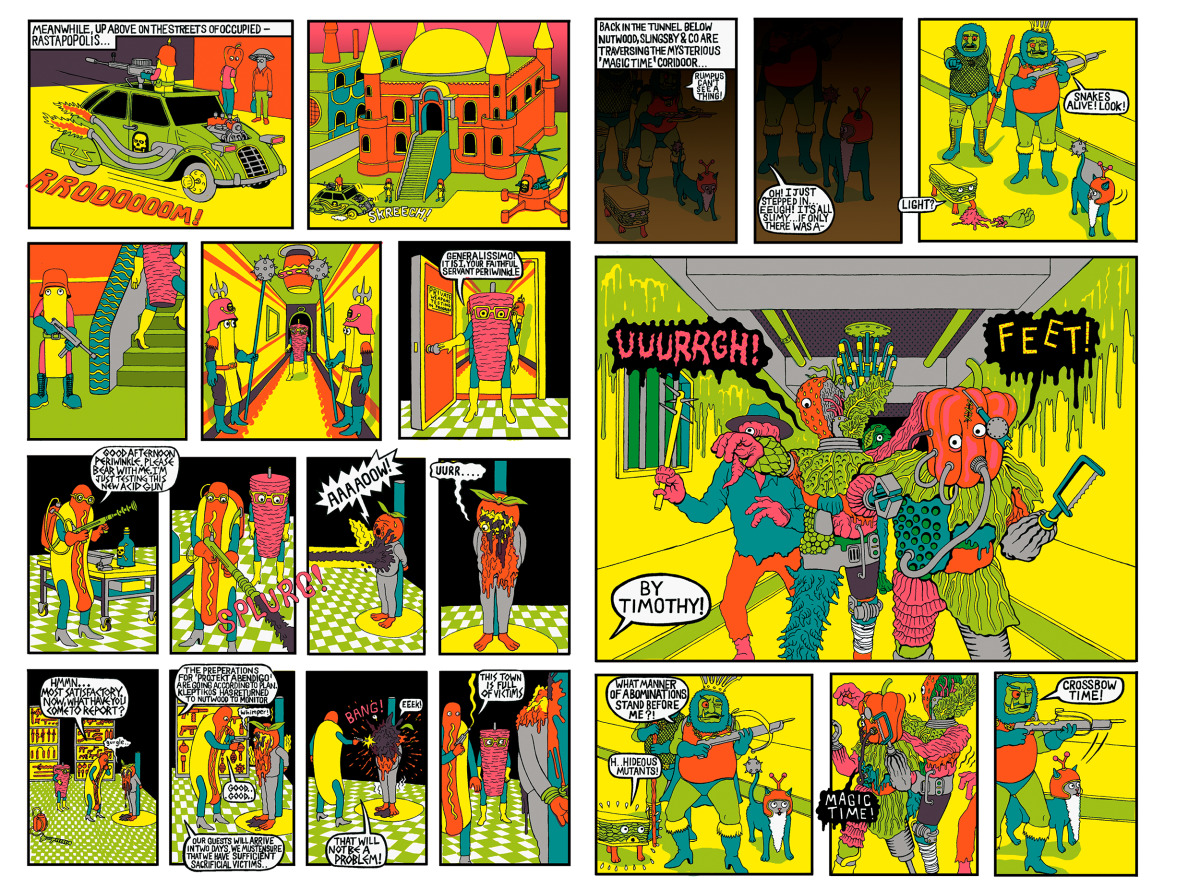 "Will Sweeney / Comics & Zines / Tales From Greenfuzz<span class=""slide_numbers""><span class=""slide_number"">5</span>/9</span>"