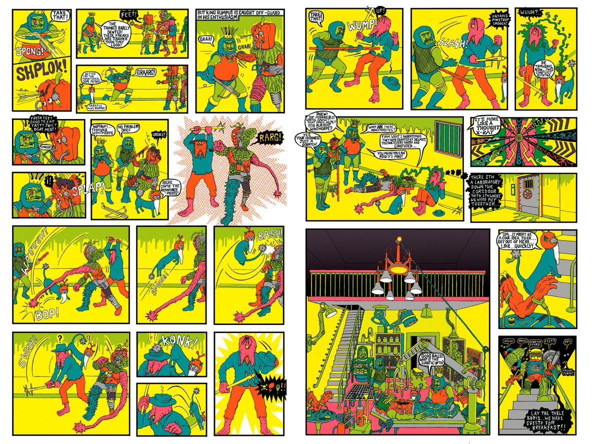 "Will Sweeney / Comics & Zines / Tales From Greenfuzz<span class=""slide_numbers""><span class=""slide_number"">6</span>/9</span>"