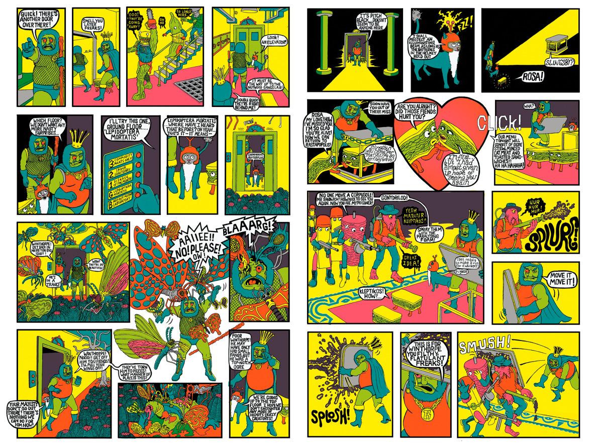 "Will Sweeney / Comics & Zines / Tales From Greenfuzz<span class=""slide_numbers""><span class=""slide_number"">7</span>/9</span>"