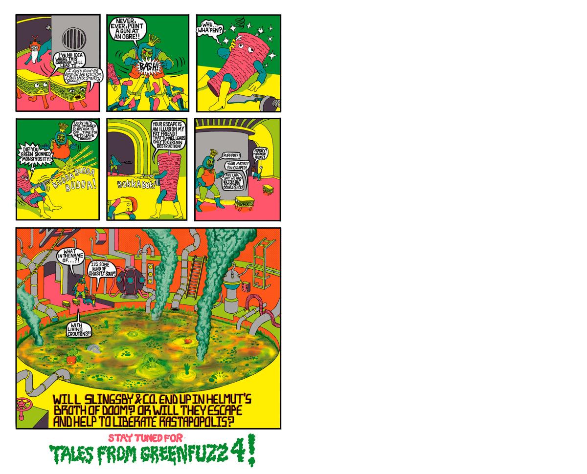 "Will Sweeney / Comics & Zines / Tales From Greenfuzz<span class=""slide_numbers""><span class=""slide_number"">9</span>/9</span>"
