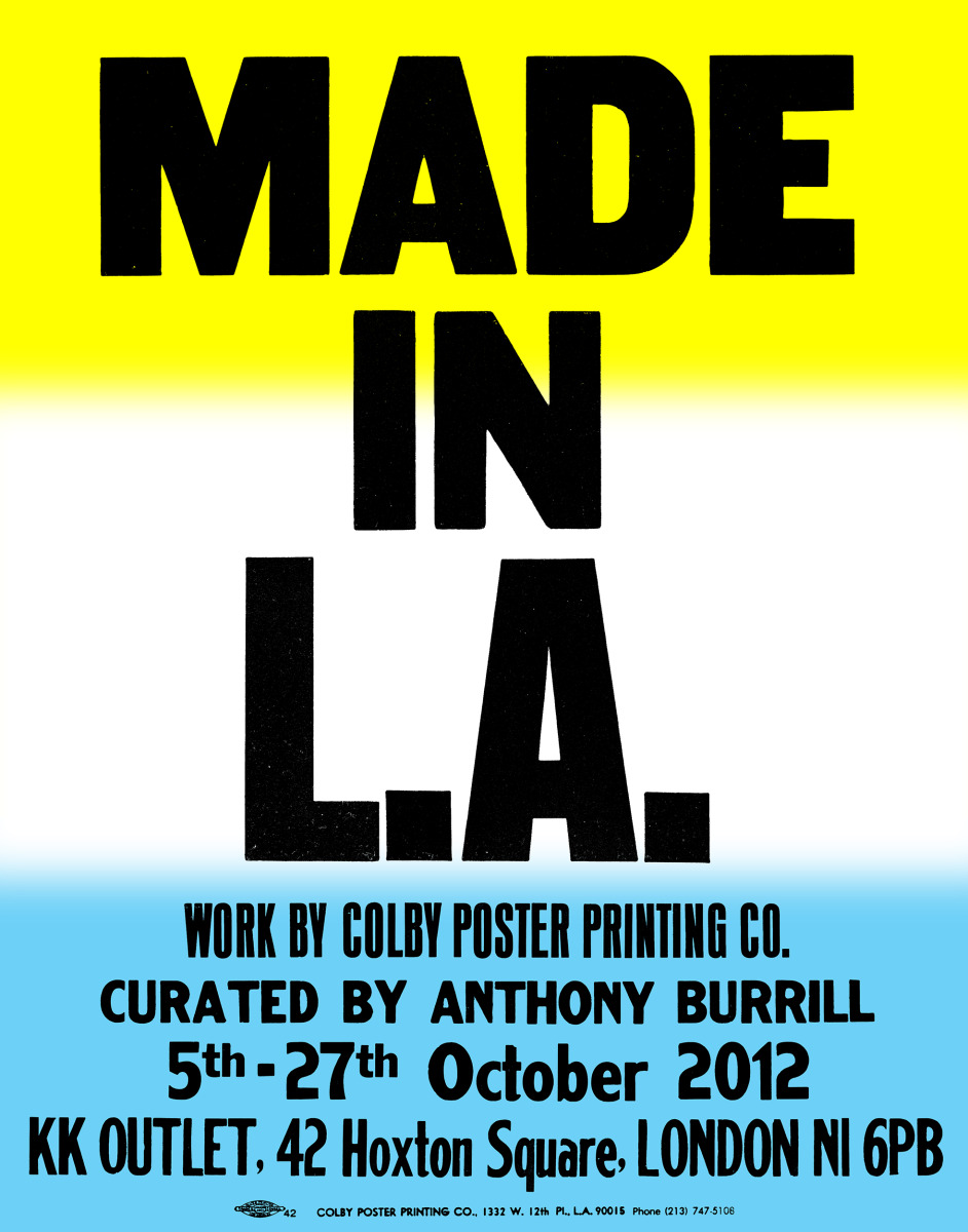 """Anthony Burrill / Personal Work / Made In LA<span class=""""slide_numbers""""><span class=""""slide_number"""">1</span>/11</span>"""