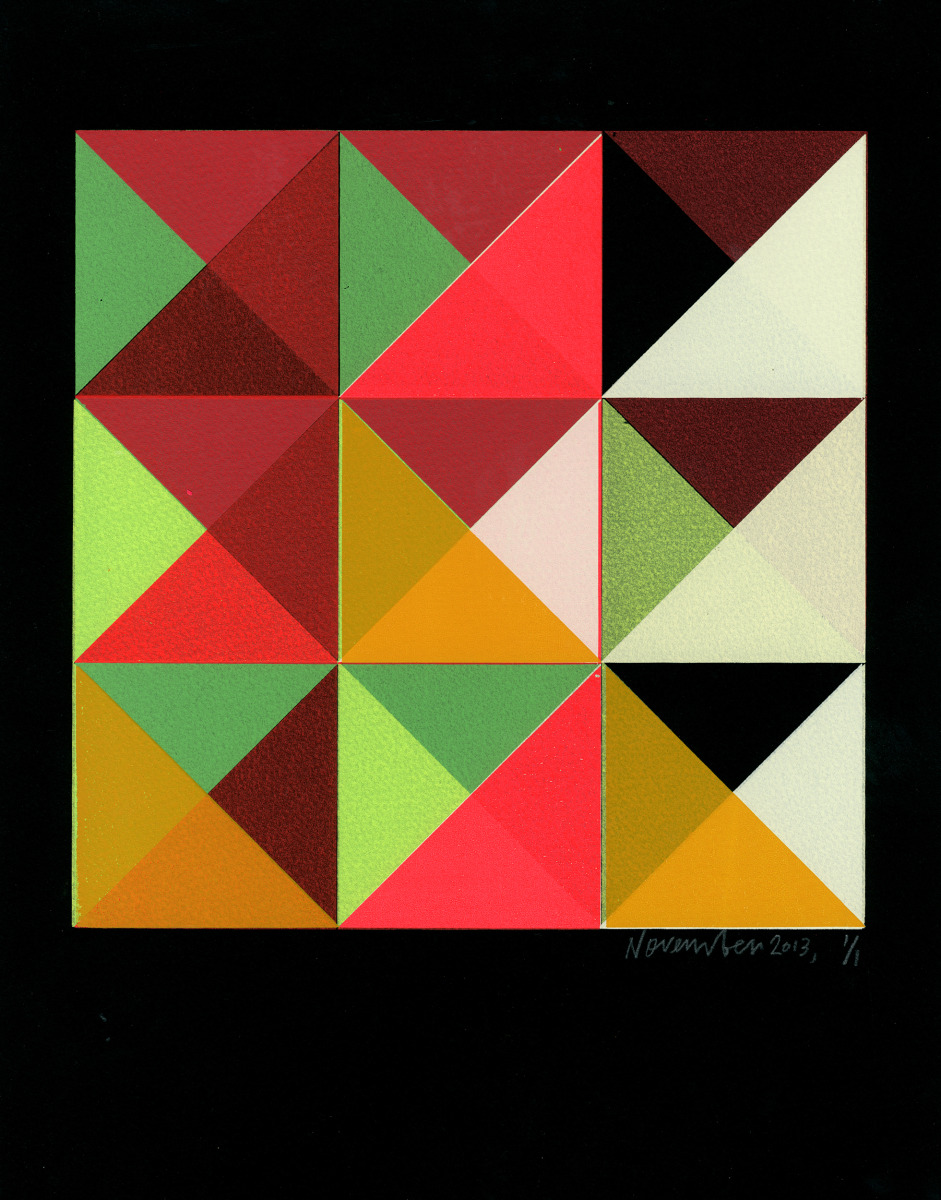 "Kate Gibb / Personal Work / Grid & Geometric<span class=""slide_numbers""><span class=""slide_number"">4</span>/5</span>"