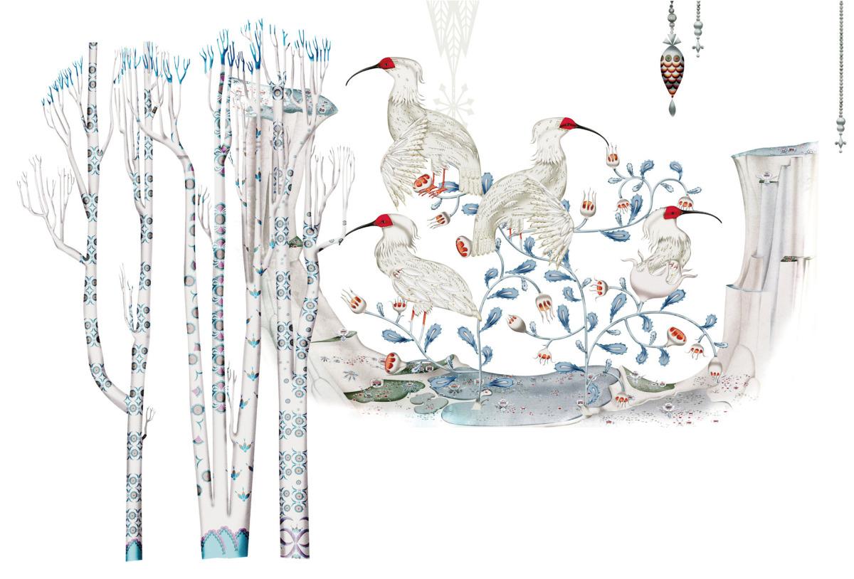 """Klaus Haapaniemi / Commercial Work / Isetan Artworks 2011<span class=""""slide_numbers""""><span class=""""slide_number"""">9</span>/17</span>"""