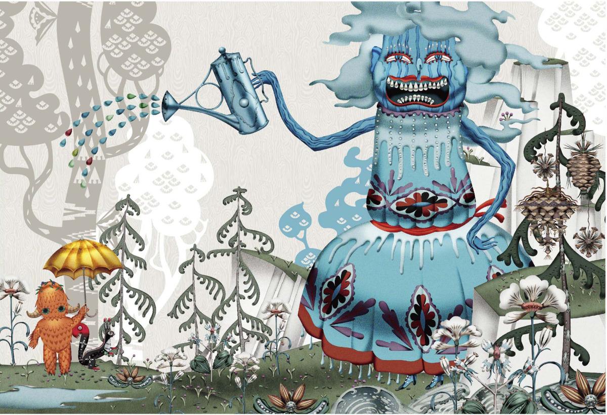 """Klaus Haapaniemi / Commercial Work / Isetan Artworks 2013<span class=""""slide_numbers""""><span class=""""slide_number"""">13</span>/17</span>"""