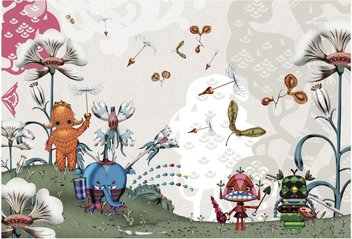 """Klaus Haapaniemi / Commercial Work / Isetan Artworks 2013<span class=""""slide_numbers""""><span class=""""slide_number"""">9</span>/17</span>"""