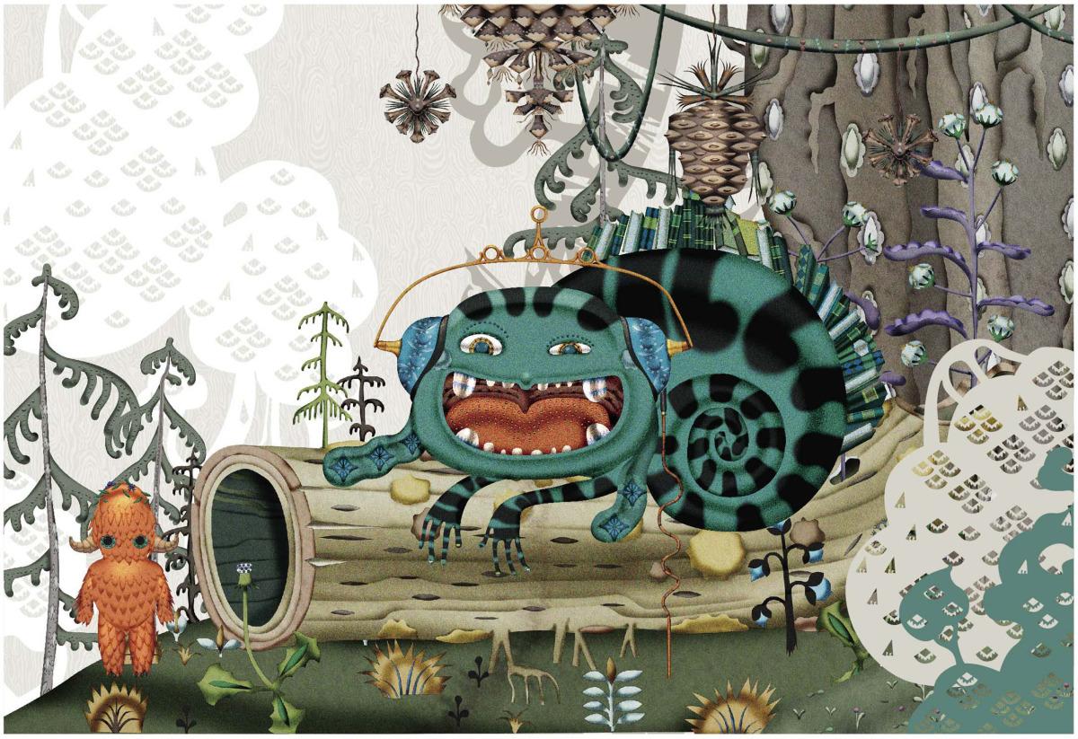 """Klaus Haapaniemi / Commercial Work / Isetan Artworks 2013<span class=""""slide_numbers""""><span class=""""slide_number"""">17</span>/17</span>"""
