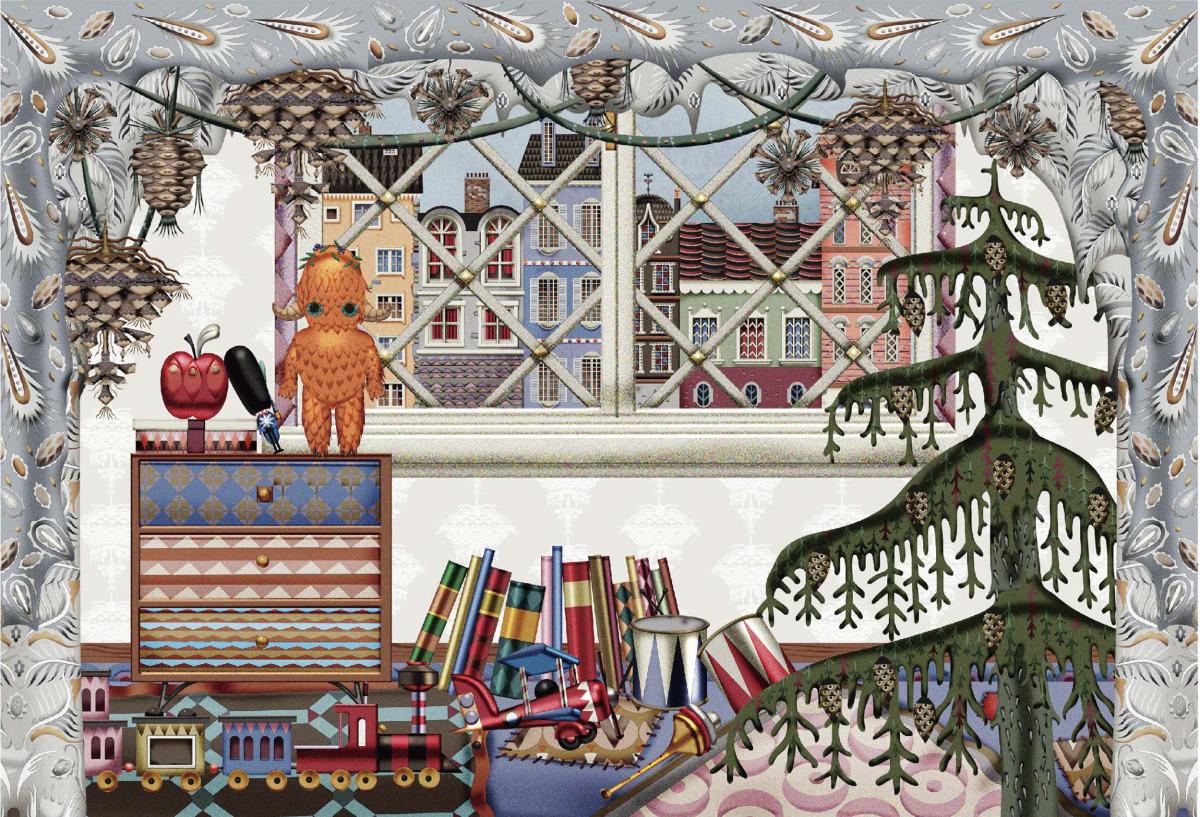 """Klaus Haapaniemi / Commercial Work / Isetan Artworks 2013<span class=""""slide_numbers""""><span class=""""slide_number"""">6</span>/17</span>"""