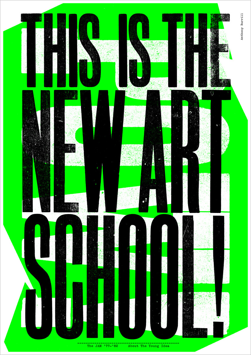 """Anthony Burrill / Commercial Work / The Jam - Lyric Prints<span class=""""slide_numbers""""><span class=""""slide_number"""">3</span>/8</span>"""