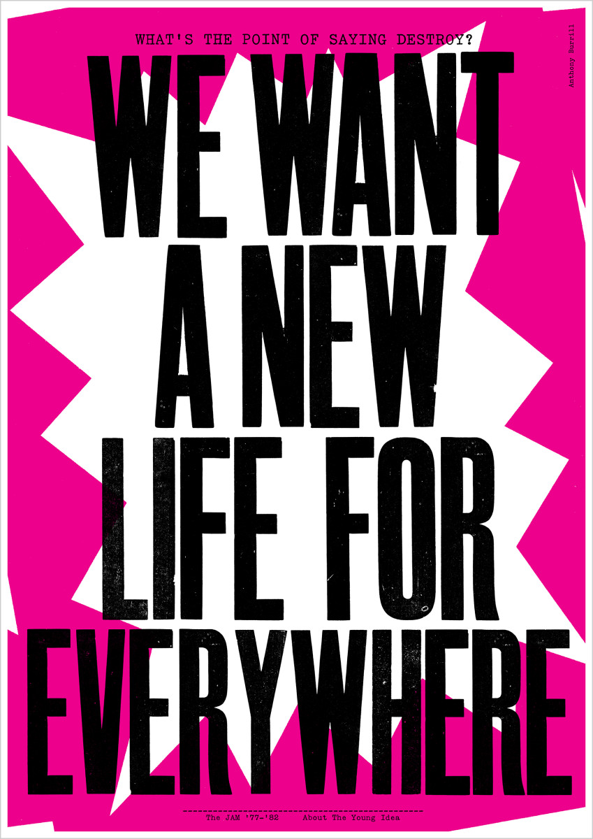 """Anthony Burrill / Commercial Work / The Jam - Lyric Prints<span class=""""slide_numbers""""><span class=""""slide_number"""">8</span>/8</span>"""
