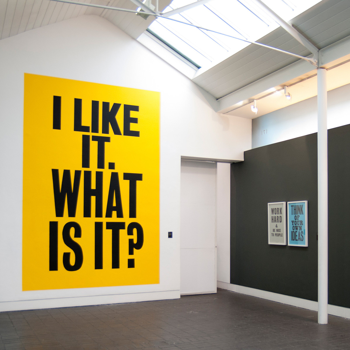 "Anthony Burrill / Exhibition / Jerwood Gallery<span class=""slide_numbers""><span class=""slide_number"">1</span>/2</span>"