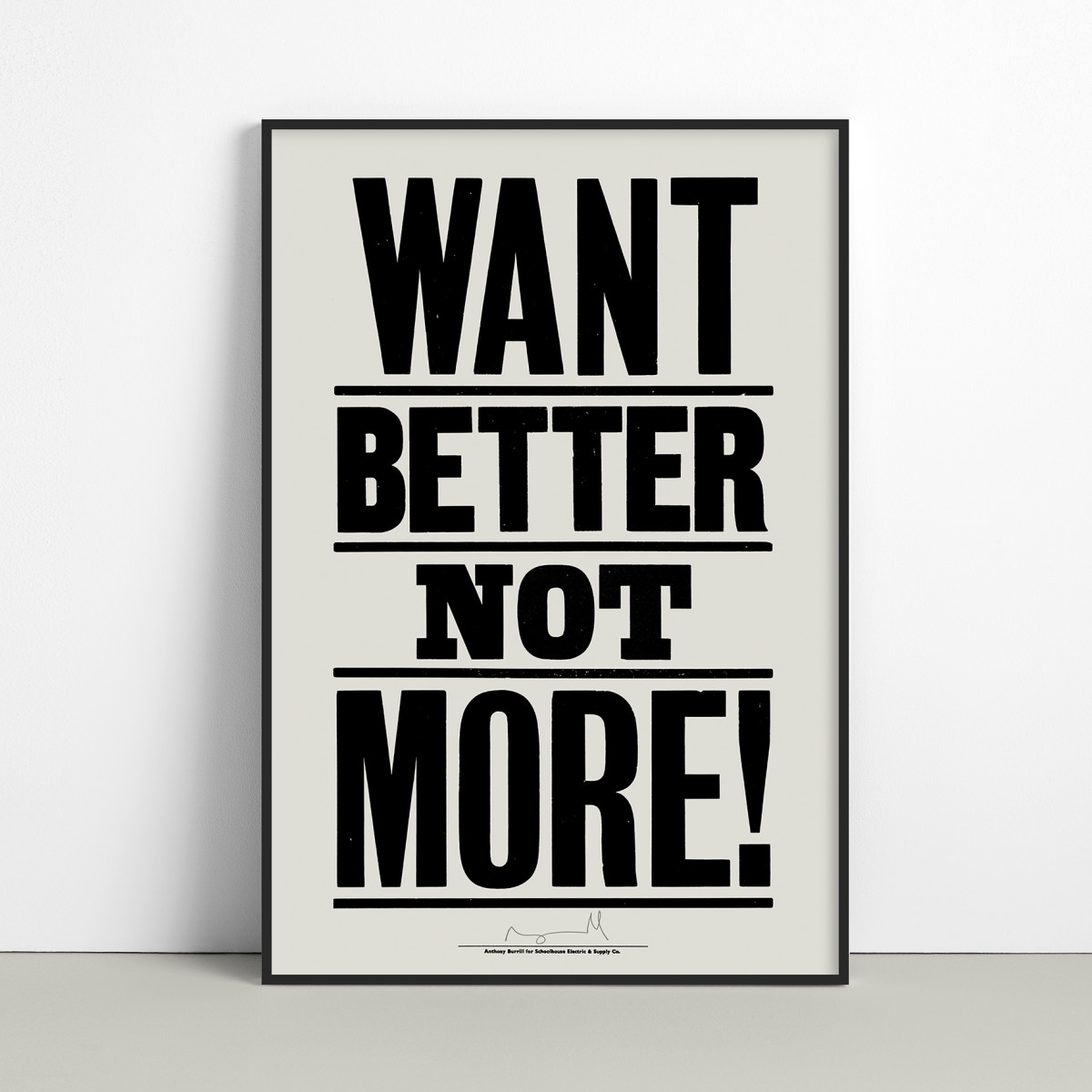 """Anthony Burrill / Commercial Work / Want Better<span class=""""slide_numbers""""><span class=""""slide_number"""">2</span>/2</span>"""