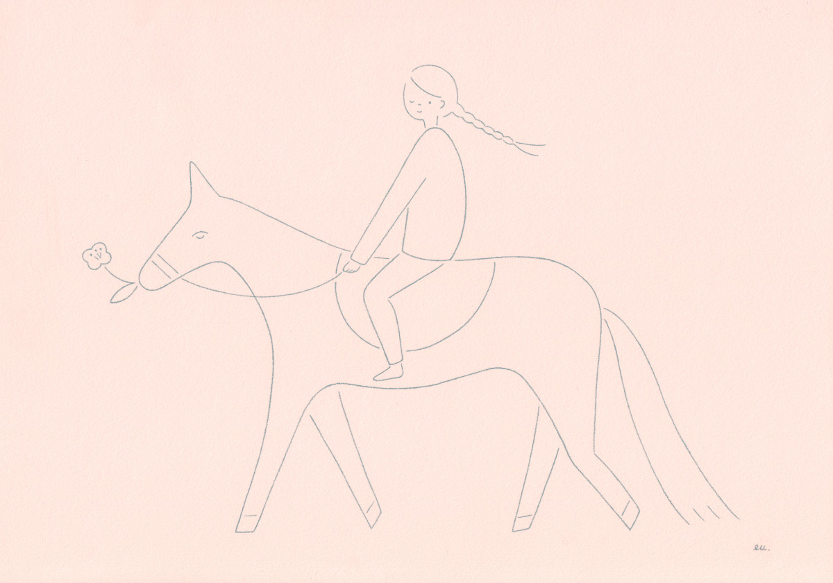 "Emi Ueoka / Personal Work / Girl On A Horse<span class=""slide_numbers""><span class=""slide_number"">1</span>/1</span>"