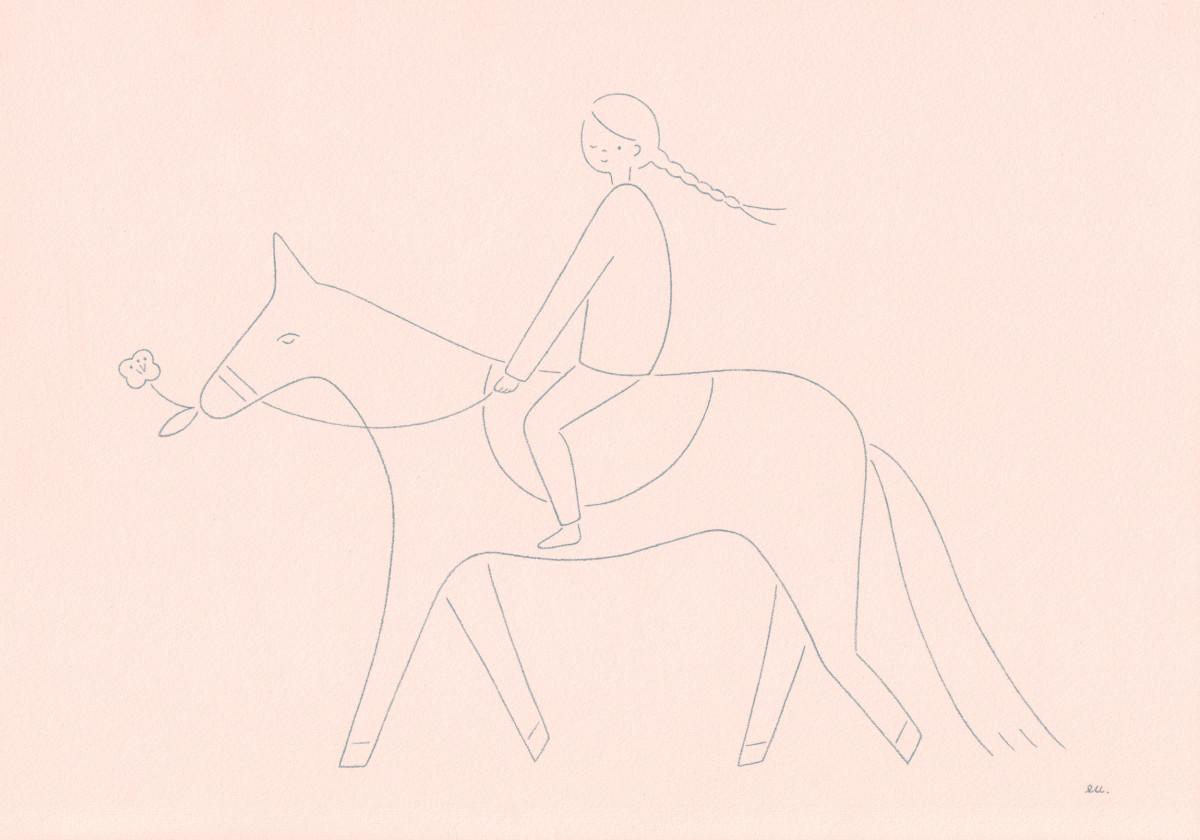 """Emi Ueoka / Personal Work / Girl On A Horse<span class=""""slide_numbers""""><span class=""""slide_number"""">1</span>/1</span>"""