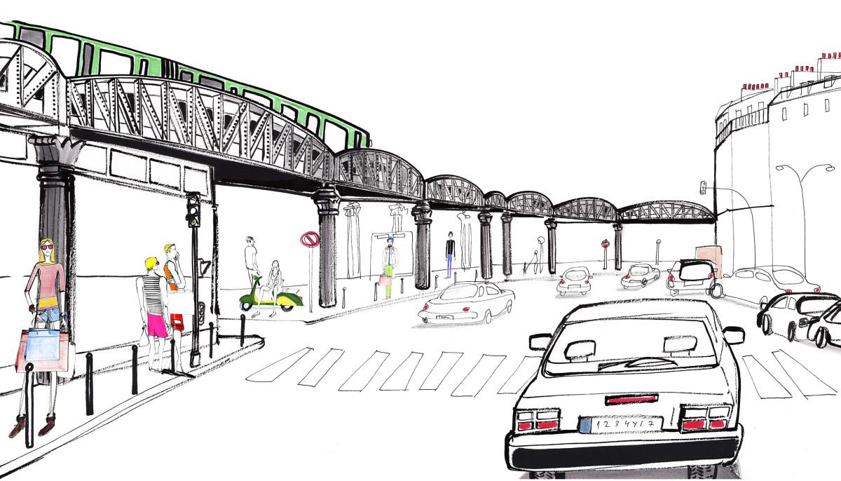 "Filipe Jardim / Commercial Work / Charles De Gaulle Airport Mural<span class=""slide_numbers""><span class=""slide_number"">3</span>/7</span>"