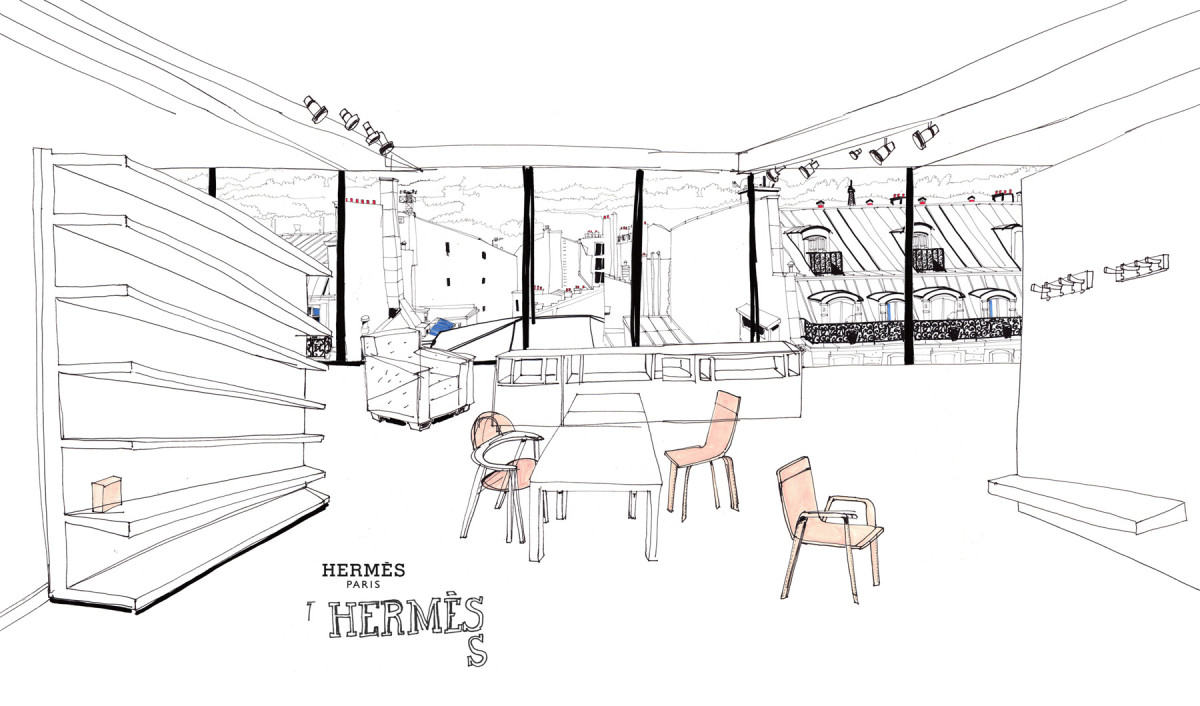 "Filipe Jardim / Fashion Illustration / Hermès Objects<span class=""slide_numbers""><span class=""slide_number"">5</span>/5</span>"