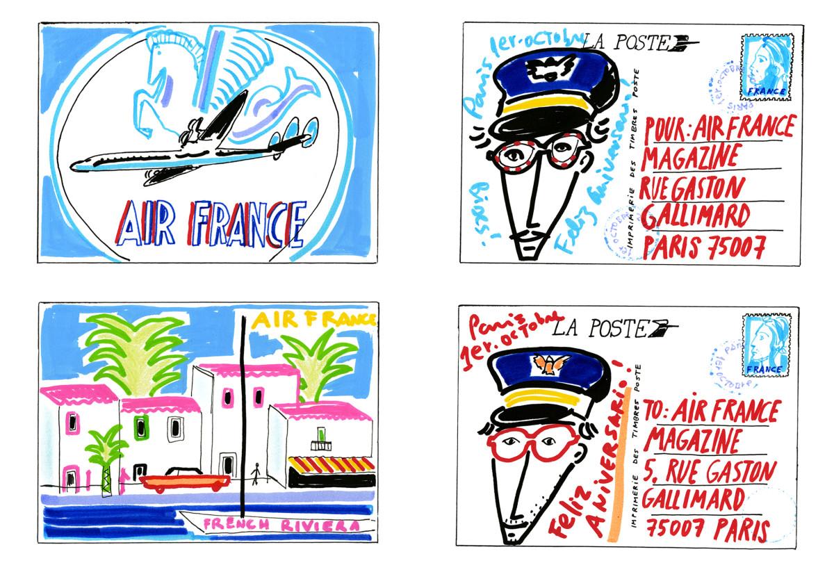 """Filipe Jardim / Travel Illustration / Air France<span class=""""slide_numbers""""><span class=""""slide_number"""">1</span>/9</span>"""
