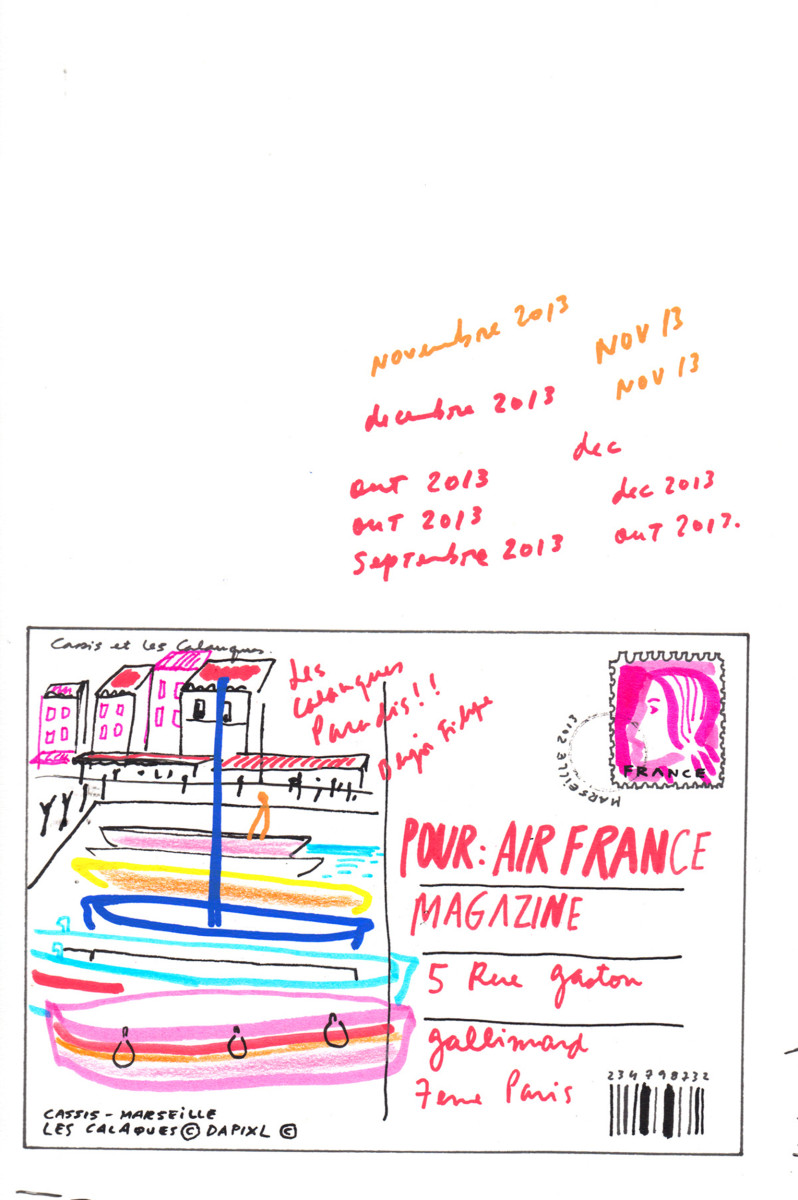 "Filipe Jardim / Travel Illustration / Air France<span class=""slide_numbers""><span class=""slide_number"">2</span>/9</span>"