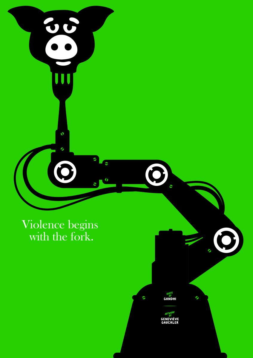 "Geneviève Gauckler / Personal Work / Veggie Poster<span class=""slide_numbers""><span class=""slide_number"">8</span>/11</span>"