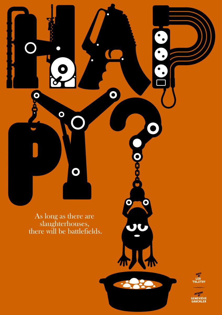 "Geneviève Gauckler / Personal Work / Veggie Poster<span class=""slide_numbers""><span class=""slide_number"">5</span>/11</span>"