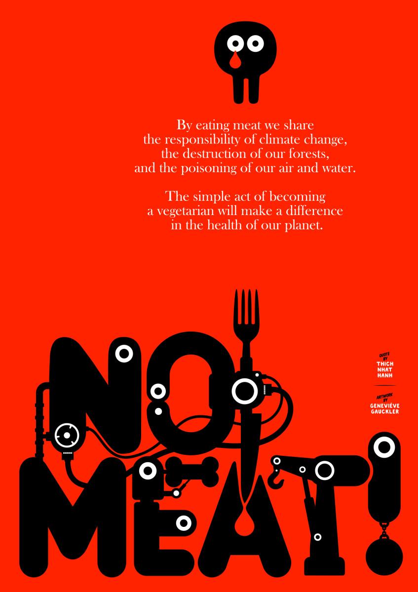 "Geneviève Gauckler / Personal Work / Veggie Poster<span class=""slide_numbers""><span class=""slide_number"">2</span>/11</span>"