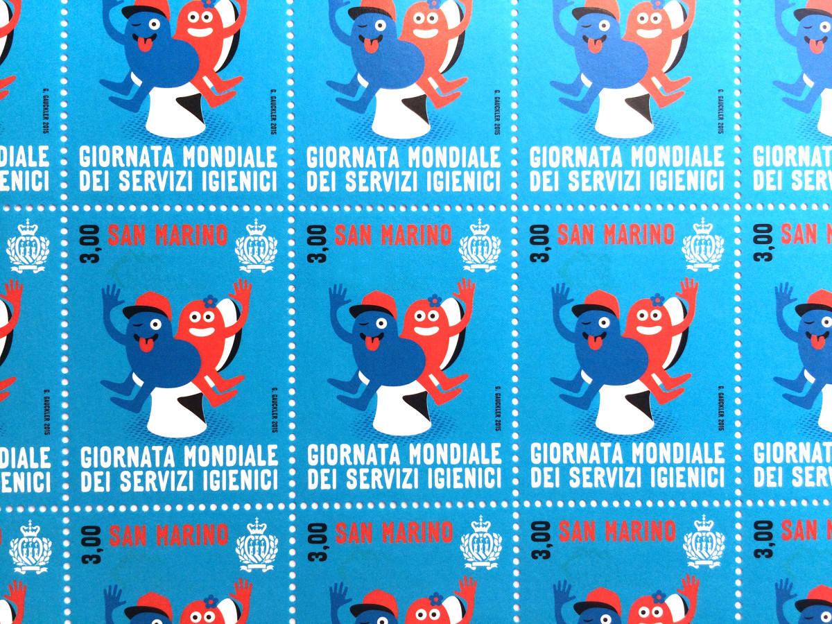 """Geneviève Gauckler / Commercial Work / World Toilet Day Stamps<span class=""""slide_numbers""""><span class=""""slide_number"""">3</span>/5</span>"""