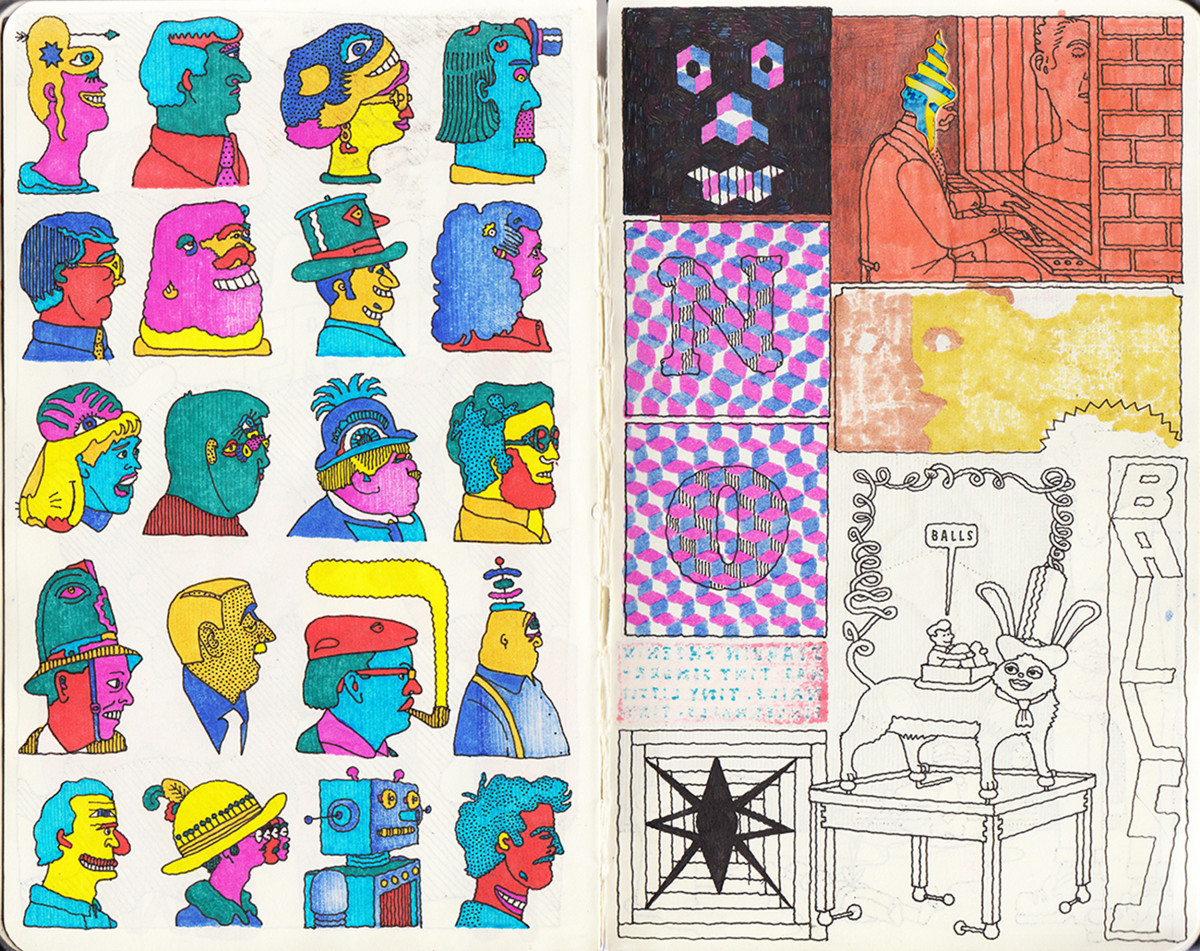 "Jim Stoten / Personal Work / Sketchbook 1<span class=""slide_numbers""><span class=""slide_number"">18</span>/19</span>"