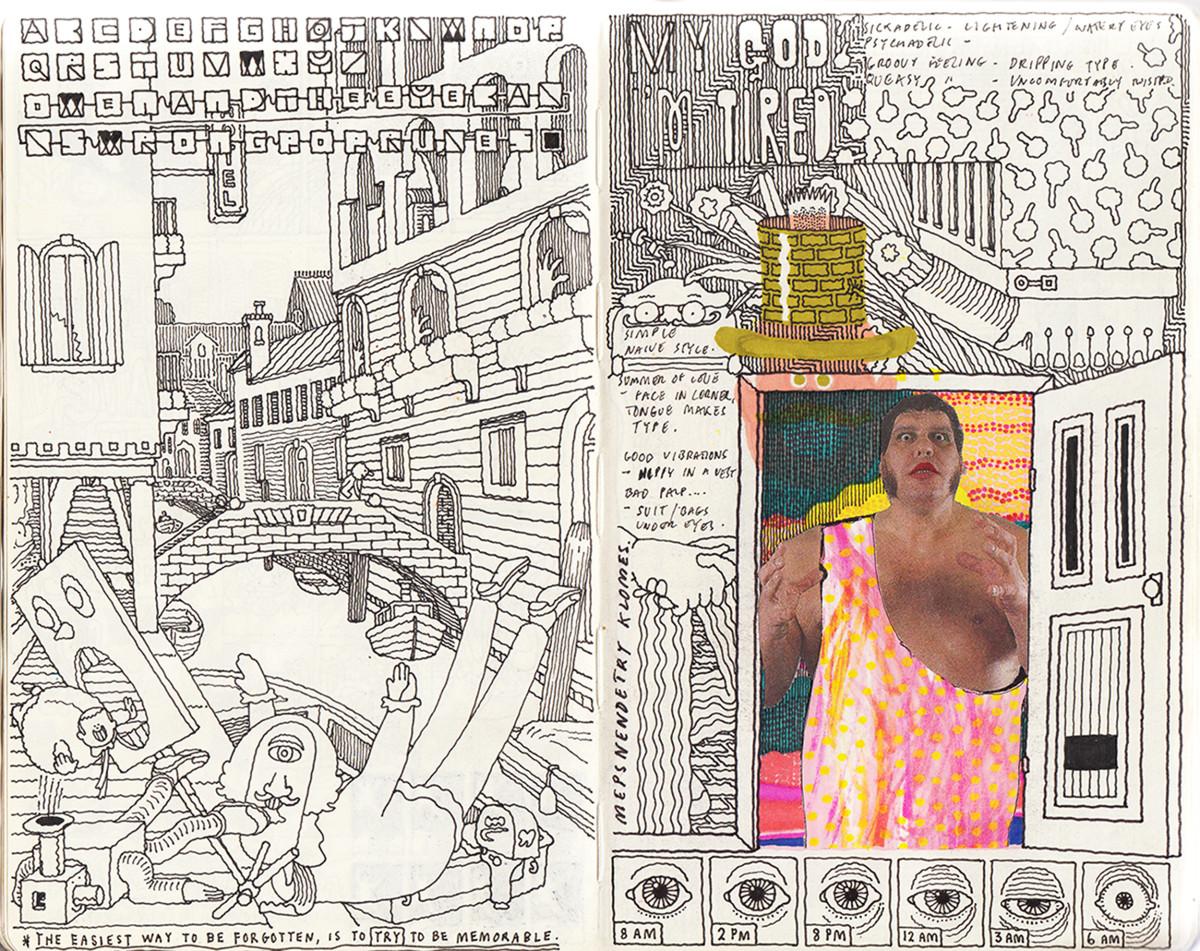 "Jim Stoten / Personal Work / Sketchbook 1<span class=""slide_numbers""><span class=""slide_number"">14</span>/19</span>"