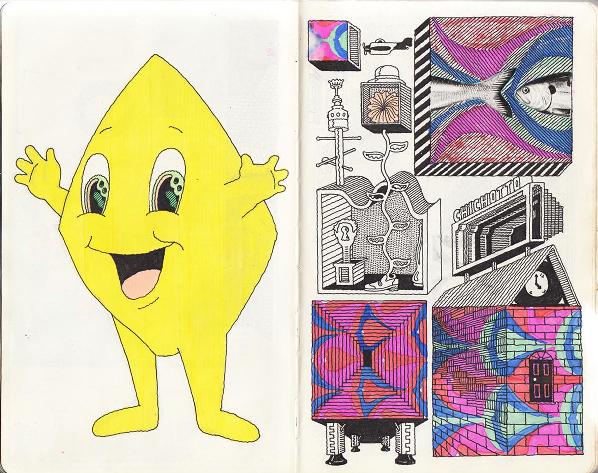 "Jim Stoten / Personal Work / Sketchbook 1<span class=""slide_numbers""><span class=""slide_number"">7</span>/19</span>"