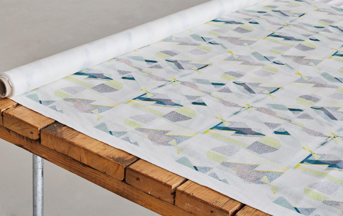 """Kate Gibb / Commercial Work / 'Flock' Textiles<span class=""""slide_numbers""""><span class=""""slide_number"""">7</span>/11</span>"""