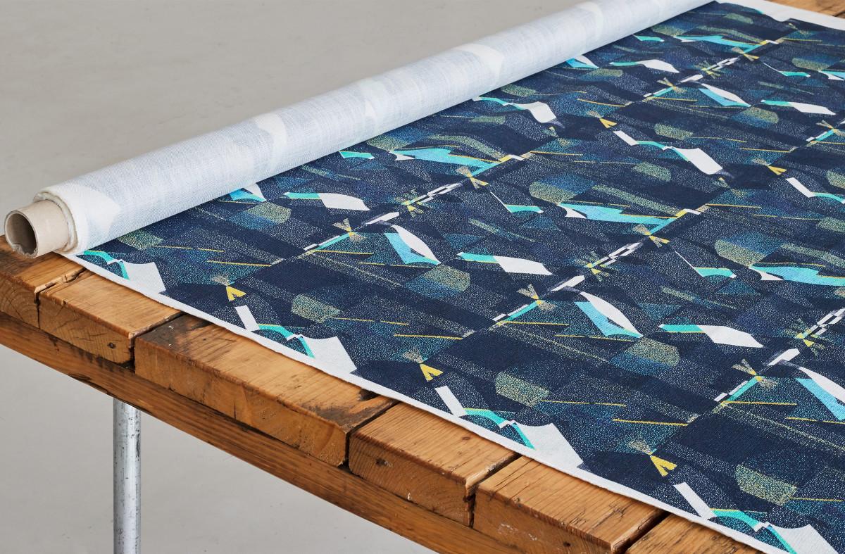 """Kate Gibb / Commercial Work / 'Flock' Textiles<span class=""""slide_numbers""""><span class=""""slide_number"""">6</span>/11</span>"""