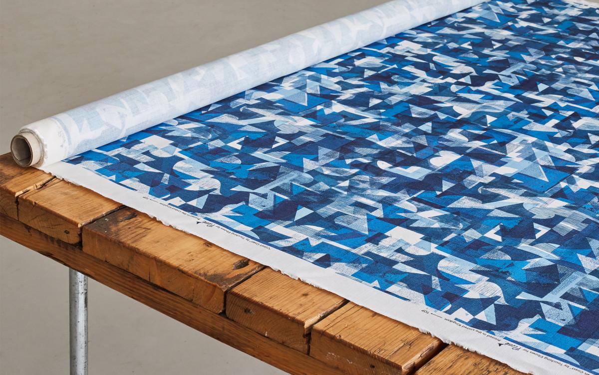 """Kate Gibb / Commercial Work / 'Flock' Textiles<span class=""""slide_numbers""""><span class=""""slide_number"""">11</span>/11</span>"""
